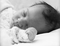 Newborn baby girl sleeping Royalty Free Stock Photo