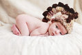 Newborn baby with hat Royalty Free Stock Photo