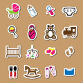 Newborn and baby icons