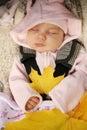 Newborn baby sleeping Stock Photos