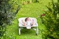 Newborn Baby Sleeping In A Bou...