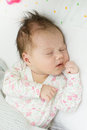 Newborn baby sleeping closeup portrait of Royalty Free Stock Images