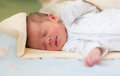 Newborn baby sleeping, 3 days old Royalty Free Stock Photo