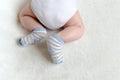Newborn baby sleeping on white Royalty Free Stock Photo