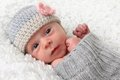 Newborn girl Stock Images