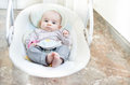 Newborn swing baby swing automatic electrical chair Royalty Free Stock Photo