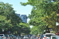 Newbury Street in Boston Royalty Free Stock Photo