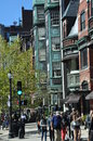 Newbury Street in Boston Royalty Free Stock Photo