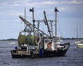 Newburyport fishing trawler the lisa ann iii a commercial out of on the merrimack river ma Royalty Free Stock Image