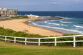 Newcastle beach australia panorama in summer Royalty Free Stock Photos