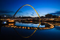 Newcastle Quayside Bridge Gateshead Millennium Bridge Royalty Free Stock Photo