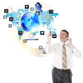 The newest internet technologies creative Stock Image