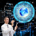 The newest internet technologies in the field of space research Stock Photo