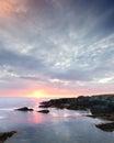 Newfoundland coast sunrise in brigus south canada Royalty Free Stock Photo
