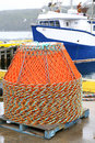 Newfoundland Crab Traps Stock Photography
