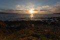 Newfoundland sunrise a along the coast with a view of witless bay Stock Images
