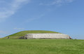 Newgrange is a prehistoric monument located on the eastern side of ireland it was built around bc during the neolithic period Royalty Free Stock Photo