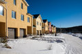 Newly Built Suburban Row Houses Royalty Free Stock Photo
