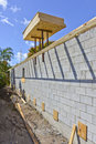 Newly constructed wall Royalty Free Stock Photo