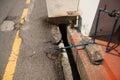 newly laid pipes under the street. Malaka, Malaysia Royalty Free Stock Photo