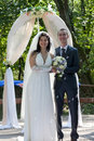 Newly-married couple Royalty Free Stock Images