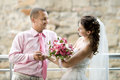 Newly married couple Stock Images