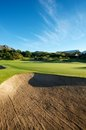 Newly raked  golf Bunker Royalty Free Stock Image