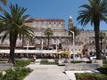 Newly renovated seafront walkway in Split, Croatia Stock Images