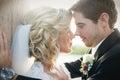Newly wedd a couple on a beach Royalty Free Stock Photography