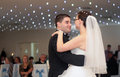 Newlywed couple dance at the wedding party Stock Photo