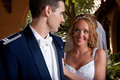 Newlywed couple a enjoy their wedding day in the united states Royalty Free Stock Photo