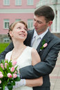 image photo : Newlywed young couple
