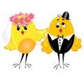 Newlyweds.couple op huwelijk. illustratie. Stock Afbeeldingen