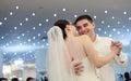 Newlyweds dancing Royalty Free Stock Photo