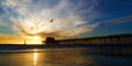 Newport Beach California Pier at Sunset Royalty Free Stock Photo
