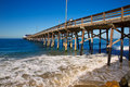 Newport pier beach in california usa surf spot Royalty Free Stock Images