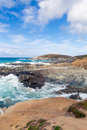Newquay coast Cornwall England UK at Little Fistral and Nun Cove Royalty Free Stock Photo