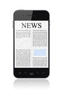 News On Apple Iphone Mobile Smart Phone Isolated Stock Photos