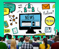 News Article Advertisement Publication Media Journalism Concept Royalty Free Stock Photo