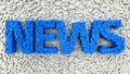 News background word made from matrix of blue cubes Stock Photography