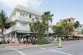 News Cafe Miami Beach Stock Image