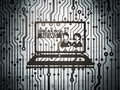 News concept: circuit board with Breaking News On Laptop Royalty Free Stock Photo