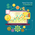 News from Finance Market Royalty Free Stock Photo