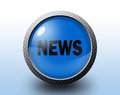 News icon. Circular glossy button. Royalty Free Stock Photo