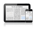 News On Modern Digital Devices Stock Photos