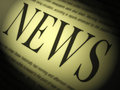 News paper shows media journalism newspapers and headlines showing Royalty Free Stock Photo