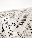 News paper text Royalty Free Stock Photography