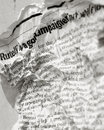 News paper text Stock Photography
