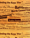 News paper texts Stock Images