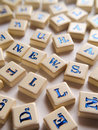 NEWS (Scrabble) Stock Image